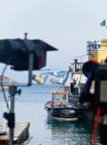 βύθιση κρουαζιεροπλοίων πλευρών concordia Στοκ Φωτογραφία