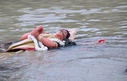 Βύθιση της θεάς Durga, Kolkata, δυτική Βεγγάλη Στοκ Φωτογραφίες