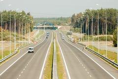 Βλέποντας από overpass εθνικών οδών Στοκ Εικόνα