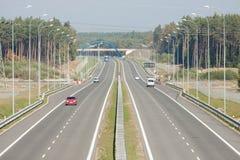 Βλέποντας από overpass εθνικών οδών Στοκ Φωτογραφία