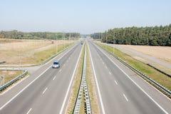 Βλέποντας από overpass εθνικών οδών Στοκ Εικόνες