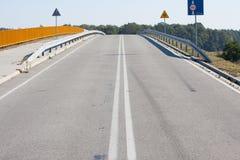 Βλέποντας από overpass εθνικών οδών Στοκ φωτογραφία με δικαίωμα ελεύθερης χρήσης