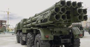 Βλήμα σύνθετο Elbrus Μουσείο του στρατιωτικού εξοπλισμού απόθεμα βίντεο