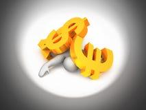 Βλαμμένος από την οικονομία ελεύθερη απεικόνιση δικαιώματος