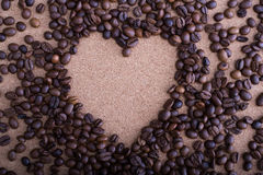 βλασταημένο καρδιά στούντιο καφέ φασολιών Στοκ Εικόνες