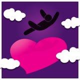 βλαστός αγάπης καρδιών πτώσης βελών Στοκ Φωτογραφία