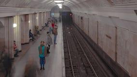 Βλαστός χρονικού σφάλματος σταθμών μετρό Στοκ Εικόνα