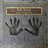 Β Β Βασιλιάς Handprints στοκ εικόνες