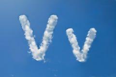 Β μορφή μορφής σύννεφων Στοκ εικόνα με δικαίωμα ελεύθερης χρήσης
