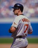 Β J Surhoff, Baltimore Orioles Στοκ εικόνες με δικαίωμα ελεύθερης χρήσης