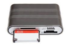 Βλ. MD mmc καρτών SD πολυ μνήμη αναγνωστών διδύμου κας μικροϋπολογιστών SD τετρ.μέτρο για το έκκεντρο Στοκ εικόνα με δικαίωμα ελεύθερης χρήσης