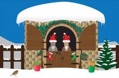 Γάιδαροι Χριστουγέννων Στοκ εικόνα με δικαίωμα ελεύθερης χρήσης