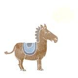 γάιδαρος κινούμενων σχεδίων με τη σκεπτόμενη φυσαλίδα Στοκ εικόνα με δικαίωμα ελεύθερης χρήσης
