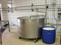 γάλα βιομηχανίας Στοκ φωτογραφία με δικαίωμα ελεύθερης χρήσης