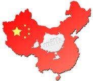 γάλα κρίσης της Κίνας απεικόνιση αποθεμάτων
