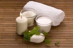 γάλα λουτρών στοκ φωτογραφίες