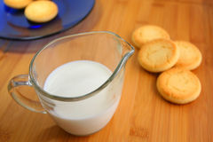 γάλα μπισκότων Στοκ Εικόνα
