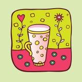 γάλα φλυτζανιών Ελεύθερη απεικόνιση δικαιώματος