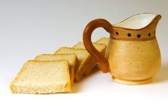 γάλα ψωμιού στοκ φωτογραφίες