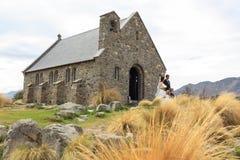 Γάμοι Tekapo λιμνών, Νέα Ζηλανδία Στοκ Φωτογραφία