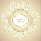 Γάμος ή γλυκό πλαίσιο με τα πέταλα και τη δαντέλλα Στοκ Φωτογραφία