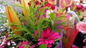 Γάμος ή ειδική σύνθεση Bouget ημερών των λουλουδιών απόθεμα βίντεο