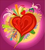 γάμος αγάπης καρδιών καρτών Στοκ φωτογραφίες με δικαίωμα ελεύθερης χρήσης