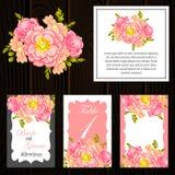 γάμος απεικόνισης καρτών αφαίρεσης Στοκ Εικόνα