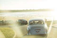 Γάμος αυτοκινήτων αυτοκίνητο αναδρομικό Στοκ φωτογραφίες με δικαίωμα ελεύθερης χρήσης