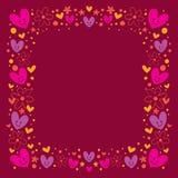γάμος βαλεντίνων θέματος καρδιών s πλαισίων λουλουδιών Στοκ φωτογραφίες με δικαίωμα ελεύθερης χρήσης