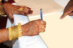γάμος βιβλίων Στοκ φωτογραφία με δικαίωμα ελεύθερης χρήσης
