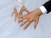 Γάμος, γάμος, δαχτυλίδια Στοκ Εικόνα