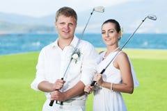 γάμος γκολφ Στοκ Φωτογραφίες