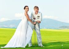 γάμος γκολφ Στοκ Εικόνες