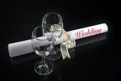 γάμος γυαλιού ζευγών στοκ φωτογραφία με δικαίωμα ελεύθερης χρήσης