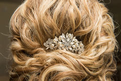 γάμος γυναικών hairstyle Στοκ Φωτογραφίες