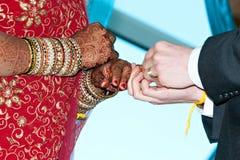 γάμος δαχτυλιδιών ανταλ&la Στοκ Εικόνες