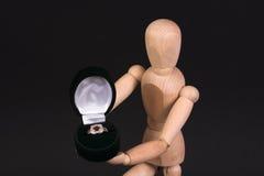 γάμος δαχτυλιδιών μανεκέ&n Στοκ Φωτογραφία