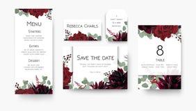 Γάμος εκτός από την ημερομηνία, επιλογές, ετικέτα, επιτραπέζιος αριθμός, ΛΦ καρτών θέσεων ελεύθερη απεικόνιση δικαιώματος