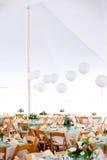 γάμος επιτραπέζιων σκηνών Στοκ φωτογραφία με δικαίωμα ελεύθερης χρήσης