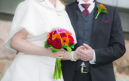 γάμος δεσμών κοσμήματος κρυστάλλου λαιμοδετών ζευγών Στοκ εικόνα με δικαίωμα ελεύθερης χρήσης