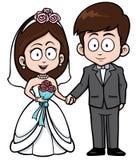 γάμος δεσμών κοσμήματος κρυστάλλου λαιμοδετών ζευγών διανυσματική απεικόνιση