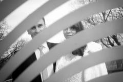 γάμος δεσμών κοσμήματος κρυστάλλου λαιμοδετών ζευγών Στοκ Εικόνες
