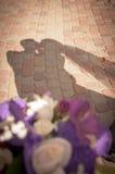 Γάμος ζευγών σκιαγραφιών Στοκ εικόνα με δικαίωμα ελεύθερης χρήσης