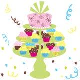 γάμος κέικ cupcake Στοκ φωτογραφία με δικαίωμα ελεύθερης χρήσης