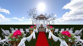 Γάμος κήπων απόθεμα βίντεο