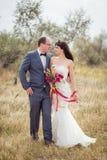 Γάμος και ιστορία αγάπης στη φύση Στοκ φωτογραφία με δικαίωμα ελεύθερης χρήσης