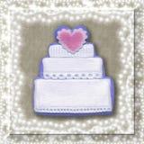 γάμος καρτών κέικ Στοκ Φωτογραφία