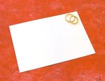 γάμος καρτών Στοκ Εικόνες