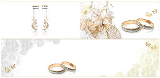 γάμος καρτών Στοκ Φωτογραφία